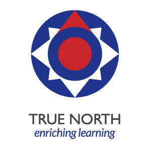 The finalised logo for True North, with tagline