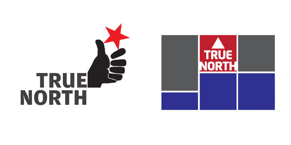 Third set of logo options for True North