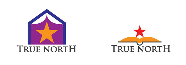 First logo options for True North- Education and learning