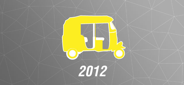 The 2012 Mumbai Auto-rickshaw fare card