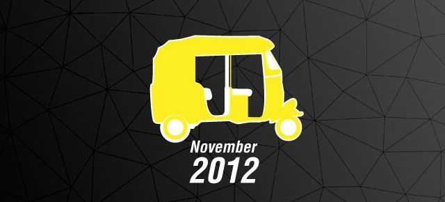 The November revision of the Mumbai Auto-rickshaw Fare card for 2012